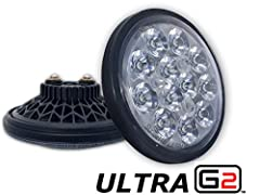 "High performance 250 watt equivalent LED drop-in replacement PAR36 sealed beam lamp. Unrivaled performance. Guaranteed EMI/RFI Free | Exact dimensions as PAR36 4.5"" glass sealed beam bulb 