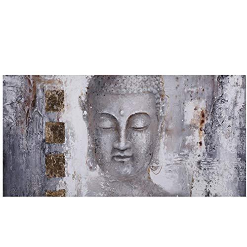 Pintura abstracta sobre lienzo religioso Señor Buda carteles e impresiones dorados cuadros de arte pop de pared para sala de estar 40 x 120 cm sin marco