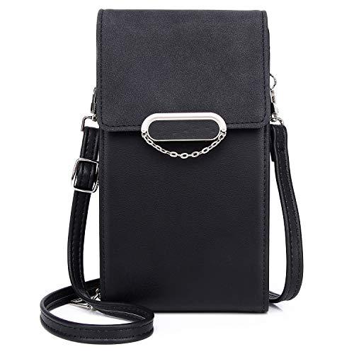 Borsa Piccola Tracolla Donna,Portafoglio a Tracolla Crossbody Bag,Messenger Crossbody Bag Portafoglio da Donna con Tracolla Regolabile e Rimovibile,Nero