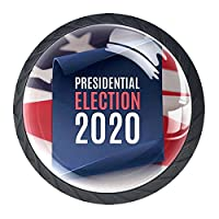 引き出しハンドルキャビネットノブ 4つの引き出しノブのラウンドパック,大統領選挙2020ポスター