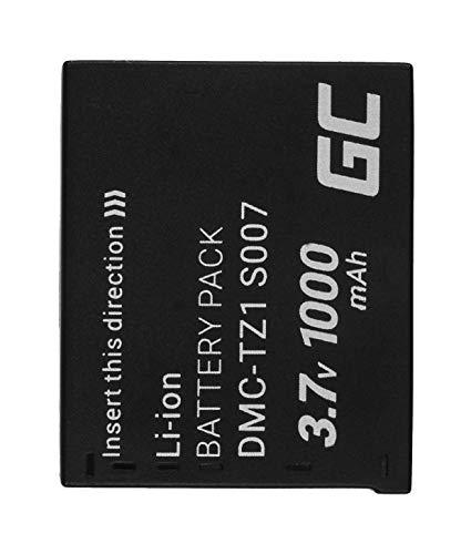 Green Cell® CGA-S007 CGA-S007A CGA-S007E DMW-BCD10 Batería para Panasonic Lumix TZ1 TZ1GK TZ2 TZ3 TZ3GK TZ3K TZ4 TZ4K TZ4S TZ5 TZ5K TZ5S TZ11 TZ15 TZ50 Cámara, Full Decoded (1000mAh 3.7V)