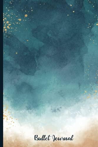 Cuaderno De Puntos A5 Bullet Journal: Liberta De Cuadrícula De Puntos 120 Páginas - Dotted Journal/cuaderno De Punteados - Dot Grid Notebook Para ... Dibujar ... Cubierta Acuarela azul Sherpa