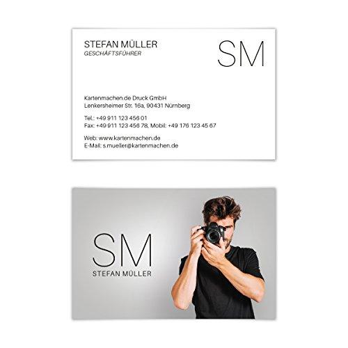 200 x Visitenkarten individuell Business Karten 300g/qm 85 x 55 mm - Fotograf