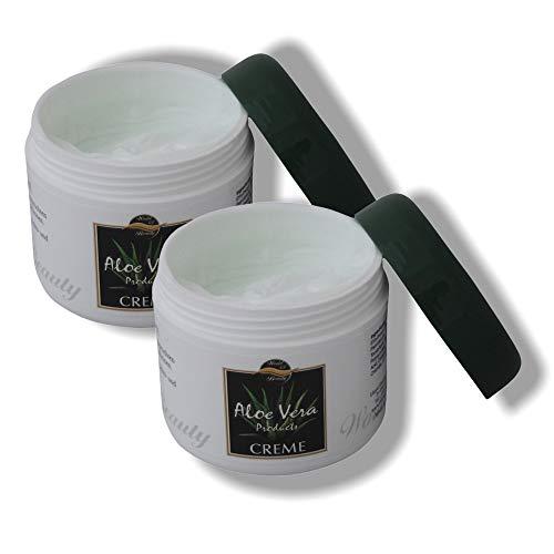 2x 125ml ALOE VERA Creme für die tägliche Gesichts- und Hautpflege, Hautcreme, Gesichtscreme, Hautpflege, Gesichtspflege, Pflegeset