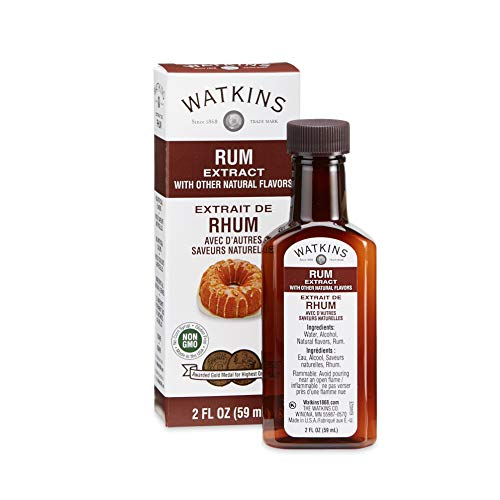 Watkins Rum Extract with Other Natural Flavors, 2 oz. Bottles, Pack of 6 (Packaging May Vary)