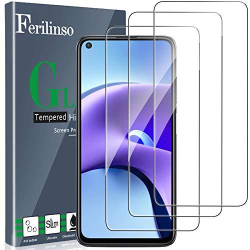 Ferilinso [3 Pezzi] Pellicola Protettiva per Xiaomi Redmi Note 9T 5G Vetro Temperato [Compatibile con la Cover] [Alta Definizione] [9H Durezza] [Anti-Graffio] [2.8D Bordo Arrotondato]