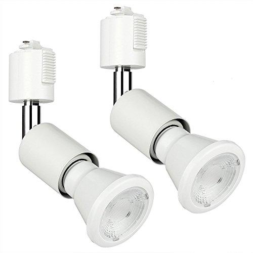 SH ライティングバー用スポットライト 電球付き E26 LED電球+器具セット ホワイト 2個セット 電球色 3000K 人気