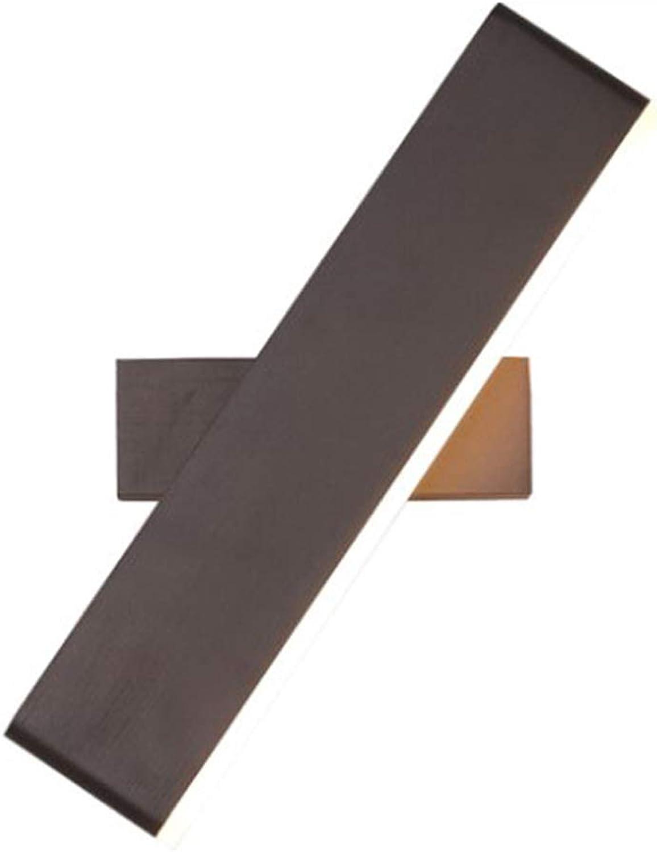 LED Acryl Wandleuchte Moderne Lange Streifen Aluminium Wall Washer Kreative Einfache 360 & deg; Drehbare Wandinnenbeleuchtung Warmweies Licht Korridor Studie Wohnzimmer Schlafzimmer Nachttischlam