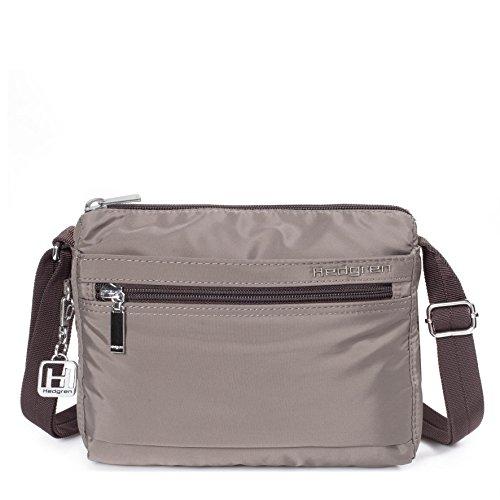 Hedgren Eye, Crossbody Schultertasche, Geldbeutel mit RFID-blockierender Tasche, 21,6x 8,9x 18,8cm, klein, Damen, Sepia Braun