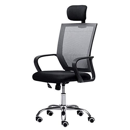 WSDSX Schlafzimmer Home Office Schreibtischstuhl Atmungsaktives Netz Kopfstütze anheben Studienstuhl Höhenverstellbarer Computerstuhl Lagergewicht 120 kg