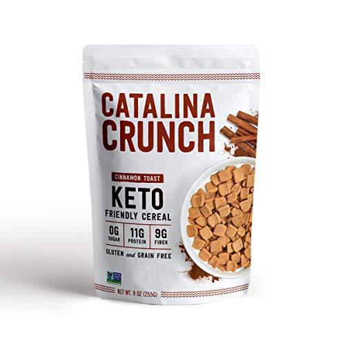 Catalina Crunch Cinnamon Toast Keto Cereal: Keto Friendly, Low Carb, Zero Sugar, Plant Protein, High Fiber, Gluten & Grain Free