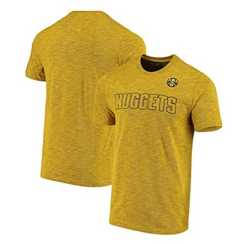 Camiseta para Hombre Camiseta para Hombre Nuggets Rendimiento Camiseta, Cuello Redondo Baloncesto de Manga Corta Transpirable, Adecuado para jóvenes Tops Deportivos XXXL