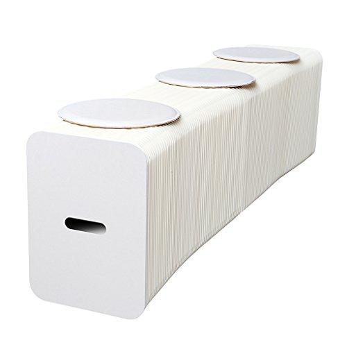 DZ-Schemel Weißer Klapphocker, Faltbares Sofa Papiertische Und Stühle Nordic-Fashion-Design Für Zuhause Freizeitwohnzimmer Studie Kreative Möbel Orgel Belastbarkeit: 5000Kg