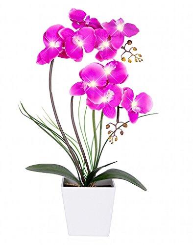 Homeseasons - Arreglo de flores artificiales iluminadas con LED - Mace