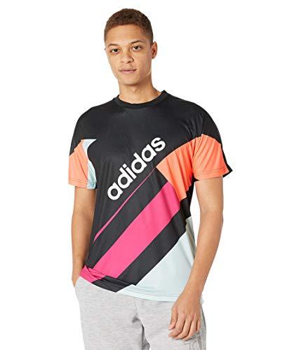 adidas Men's Color Block Tee Black/White X-Large