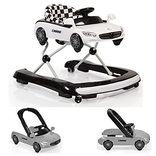 Cangaroo Cabrio Lauflernhilfe/Lauflernwagen mit Wippfunktion/Wippstuhl 2 in 1, weiß