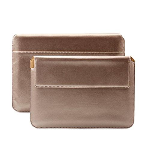 iCues Apple iPad Mini 5/4 Sleeve | Samsung Galaxy Tab S2 8.0 Tasche | Für 6.9 bis 8.0 Zoll Tablet Piquante Etui Puppy Champagner | Hülle Hülle Schutzhülle Leder Cover Schutz