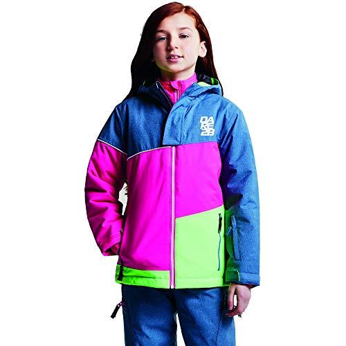 Dare 2b DKP353 Skijacke Unisex Kinder Mehrfarbig, Unisex Kinder, Skijacke, DKP353 4ZFC11, Mehrfarbig (AstroBl/CybP), 11 - 12 Jahre