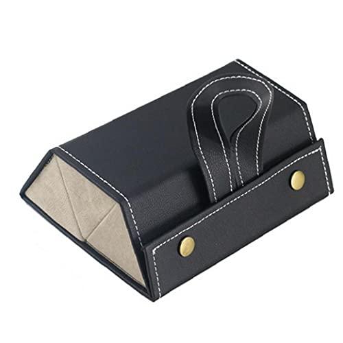 Caja de almacenamiento de gafas, organizador de gafas de sol 3 gafas de ranura Funda de almacenamiento para almacenamiento y visualización negra