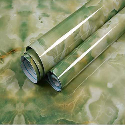 KaiKBax Papel de cocina de mármol a prueba de aceite ecológico de contacto de cocina Peel and Stick Papel pintado autoadhesivo para encimera cajón estante Liner 24 × 500 pulgadas