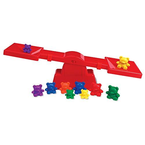 Learning Resources- Set de balanza para Principiantes de la Familia de los Tres Osos Original Three Bear Famly, Color (0 LER0740) , color/modelo surtido