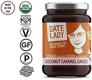 Date Lady Organic Coconut Caramel Sauce | Vegan, Paleo, Gluten-free & Kosher (1 Jar)