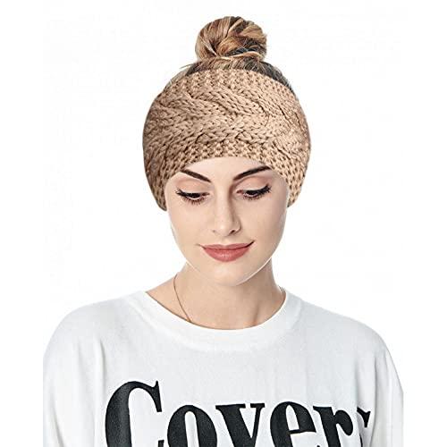 ROKTUD Headbands for Women Leopard Turban Bandeau Headband Wide Knot Hair Scarf Stretch Stripe Fabric Head Wrap Floral Print Hair Bands Vintage Button Knotted Headbands Head Wrap