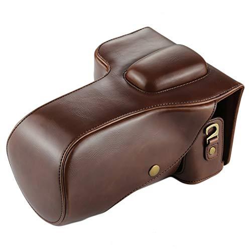 NANSHAN✅ CAMERAPROTECTION/Cámara de Cuerpo Completo PU Bolsa de Caja de Cuero para Nikon D7200 / D7100 / D7000 (18-200/18-140mm Lens) - Proteger Perfectamente su cámara (Color : Coffee)