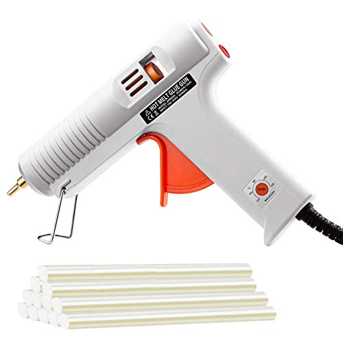 Amazon.co.uk - TOPELEK 100W Hot Melt Glue Gun with 12 Sticks adjustable temperature
