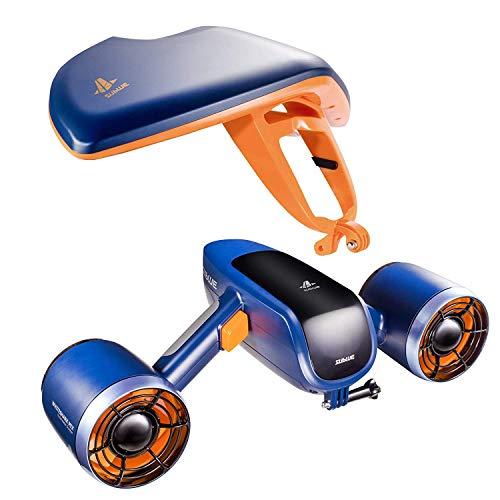 WINDEK Sublue WhiteShark Mix Unterwasser Scooter Tauchscooter mit Action Kamera Halterung, Doppelmotor, 40m Wasserdichter Elektroroller für Wassersport, Tauchen, Schnorcheln