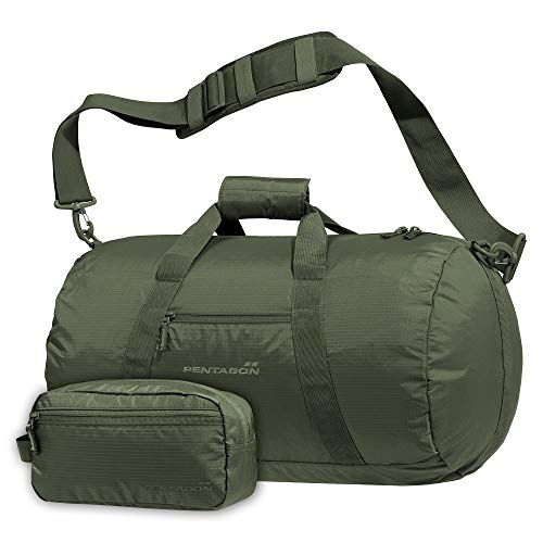 Pentagon Soft Duffle Kanon Duffle Bag, with shoulder strap, in RipStop Water Resistant (Olive Drab)