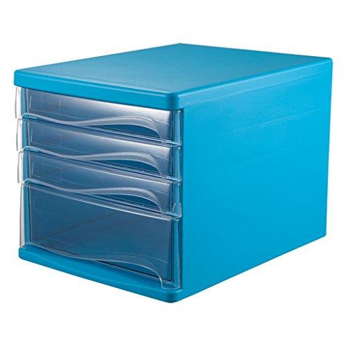XINYALAMP data-archiefkast met vier lagen kunststof transparante ladekast Blauw