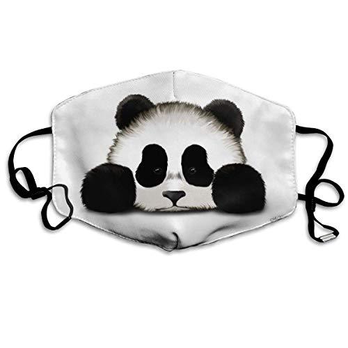 mundschutz Gesichtsbedeckung Mundbedeckung Mundschutz, Nordischer Wärmer Niedliche Tier Pandas Bär Atmungsaktive Gesichtsdekorationen Verstellbare Winddichte Abdeckung