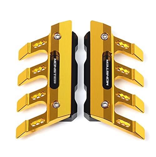 Seitenschutzschutz/Fit Für DU-CA-TI 695 696 795 796 797 821 1100 1200 / Motorrad Front Gabel Protector Fender Slider Zubehör Schutzblech (Color : Gold)