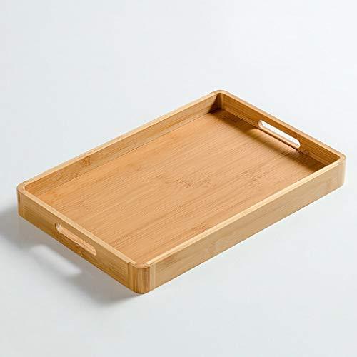 QTBH Bandeja Bandeja de té de la Fruta del hogar de bambú de Madera for Hornear Pan Filete a la Torta de Pizza Rectangular Ronda Bonitas bandejas de Desayuno (Size : M)