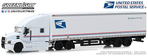 Greenlight 30090 2019 Mack Anthem 18 Wheeler Tractor-Trailer - United States Mail Service We Deliver for You (Hobby Exclusive) 1:64 Scale