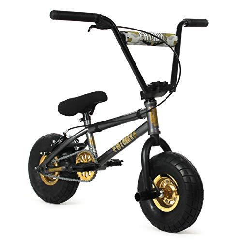 FatBoy Mini BMX New 2021 Fatboy Pro X Gun Powder Mini BMX Bike (Grey/Black/Gold)