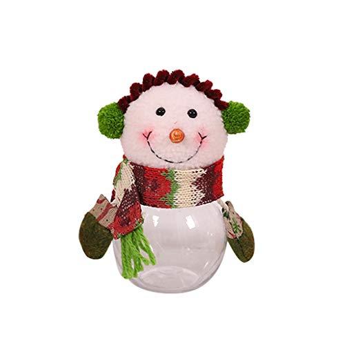 Gaddrt Weihnachtssüßigkeiten Box Großpackung Weihnachten Candy Jar Vorratsflasche Freunde Kind Kind Flanell süße Geschenke Schneemann (C)
