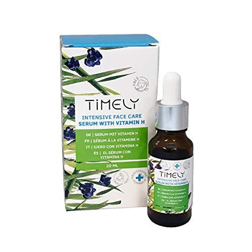 Timely - Sérum de cuidado facial intensivo con vitamina H,