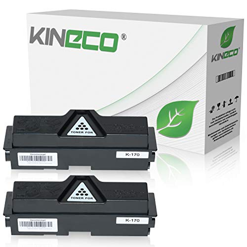 2 Toner kompatibel zu Kyocera TK170 für Kyocera Ecosys P2135DN FS-1320DN FS-1370DN - TK-170 / 1T02LZ0NL0 - Schwarz je 7.200