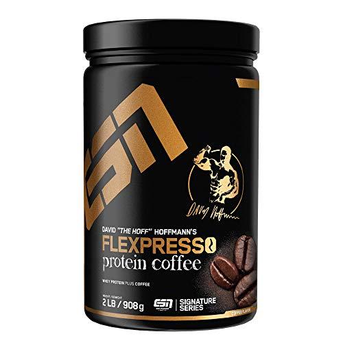 ESN FLEXPRESSO Protein Coffee – Erstklassiges Proteinpulver mit echtem Kaffee – lecker & cremig – 30 Portionen – 908 g