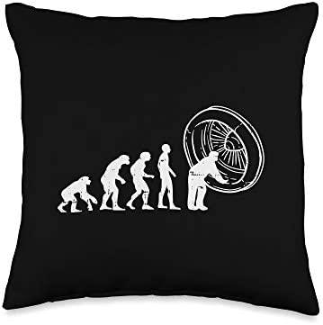 BoredKoalas Aviation Lovers Pillows Pilot Gifts Airplane Maintenance Evolution Funny Aviation product image
