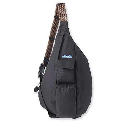 KAVU Rope Sling - Compact Lightweight Crossbody Bag - Jet Black