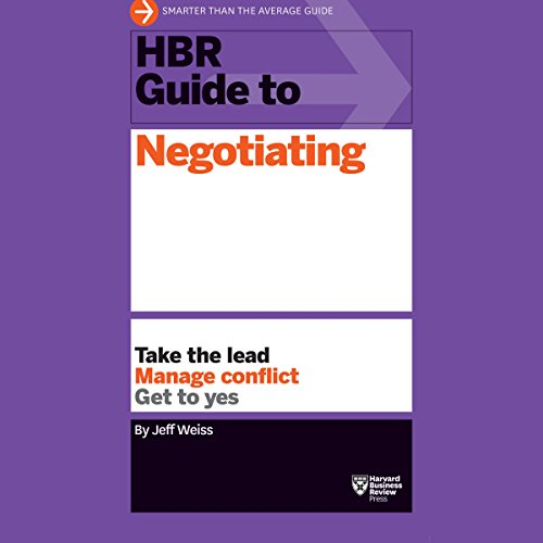 HBR Guide to Negotiating audiobook cover art
