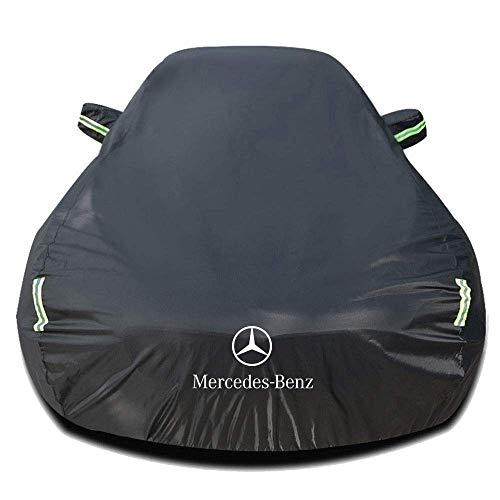 GYPPG Autoabdeckung Kompatibel mit Mercedes-Benz C-Klasse C230 Kompressor 5-Türer 1994-heute, Allwetter-Vollautoabdeckungen wasserdichte Winddichte äußere Autoabdeckungen mit Aufbewahrun