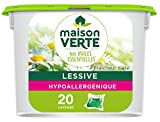 Maison Verte - Lessive capsules Fraîcheur d'été Aux Huiles Essentielles - Efficace dès 30° -...