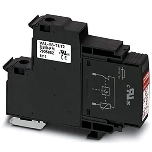 PHOENIX CONTACT VAL-US 60/O - Lote de 12 disipadores de tensión con elemento base y enchufe de protección con varistor de alto rendimiento (1 canal)