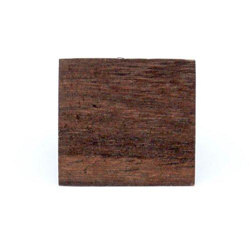 Hard hout Vinger Ring met een grote vierkante platte gezicht ontwerp. Verkrijgbaar in verschillende maten. Draag een stukje natuur!