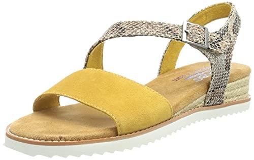 Skechers 113004-YEL_39, Sandalias para Exteriores Mujer, Amarillo, EU