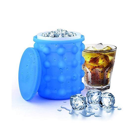 AJMINI Siliconen Ice Bucket, Ice Bucket Moulds Making, met Deksel Bespaar Ruimte, Vol Diamant Ijs, Grote Perfect Voor Voetbalwedstrijden, Cocktail Partijen, Picnics